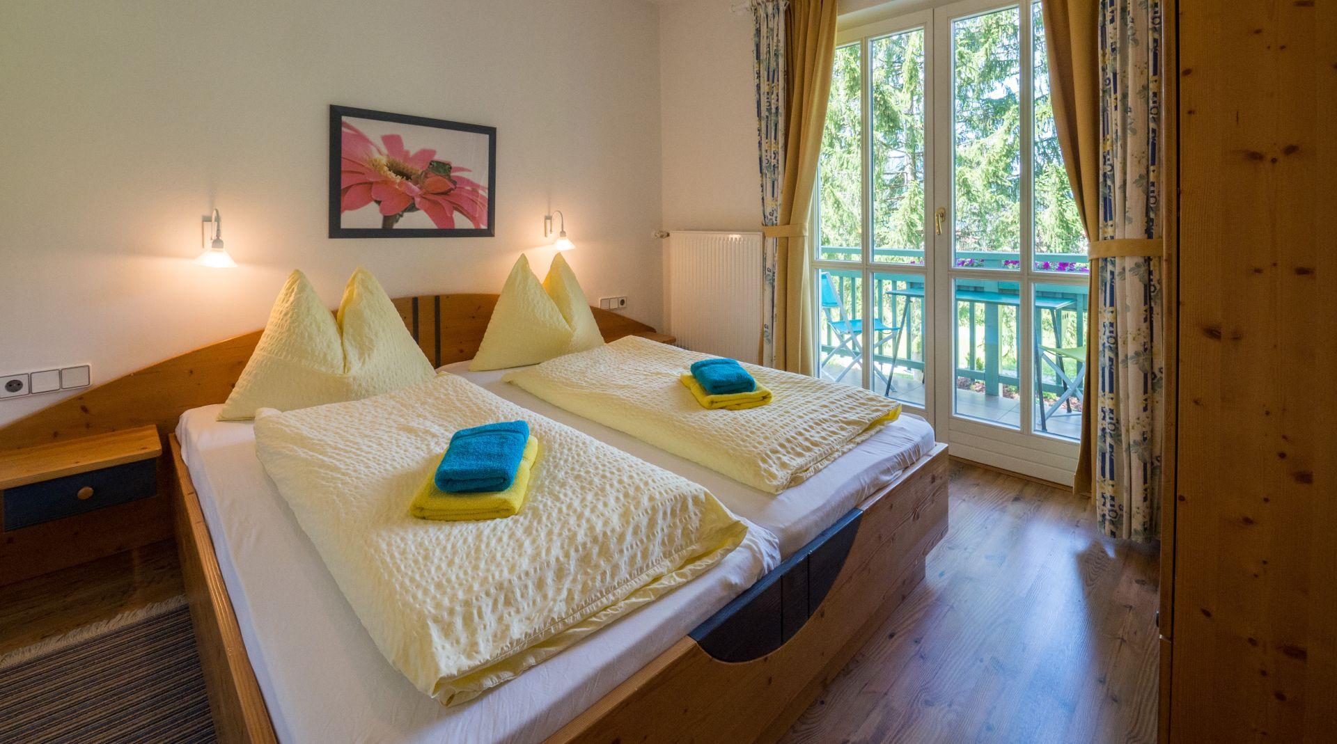 Ferienwohnung Grüner Baum Weissensee Schlafzimmer